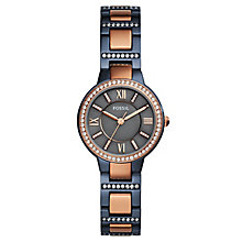 Fossil Virginia Ladies' Two Tone Steel Bracelet Watch - Product number 8144699