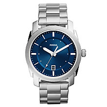 Fossil Men's Machine Silver Stainless Steel Bracelet Watch - Product number 8144702
