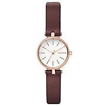 Skagen Signatur Ladies' Red Leather Strap Watch - Product number 8144788