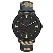Armani Exchange Men's Camo Leather Strap Watch - Product number 8145121