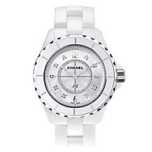 Chanel J12 Ladies' Ceramic Mother of Pearl Diamond Watch - Product number 8145202