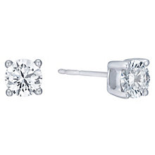 18ct White Gold 1ct H/I SI2 Diamond Stud Earrings - Product number 8147124
