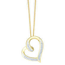 9ct Yellow Gold Diamond Twist Heart Pendant - Product number 8147183