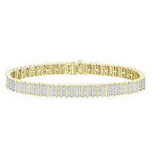 9ct Yellow Gold 1.5ct Diamond Bracelet - Product number 8147299