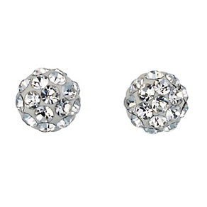 9ct Yellow Gold Crystal Ball Stud Earrings 4mm - Product number 8147396