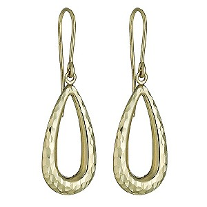 9ct Yellow Gold Diamond Cut Creole Earrings - Product number 8147450