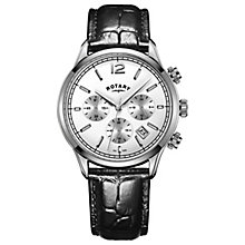 Rotary Men's Black Leather Strap Watch - Product number 8147663