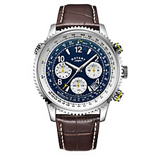 Rotary Men's Brown Leather Strap Watch - Product number 8147671