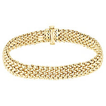 "9ct Yellow Gold Woven 7.5"" Necklace - Product number 8147787"