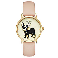 Kate Spade Bulldog Ladies' Yellow Gold Tone Strap Watch - Product number 8147809