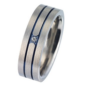 Men's Engagement Tioro Ring Titanium Diamond