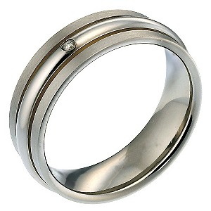 Men's Titanium Diamond Ring - Product number 8150400