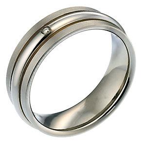 Men's Titanium Diamond Ring - Product number 8150400