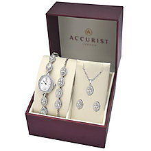 Accurist Ladies' Stone Set Watch Gift Set - Product number 8151067