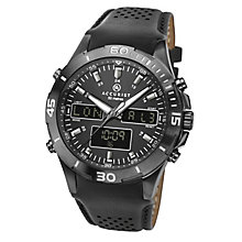 Accurist Men's Black Leather Strap Watch RRP £239.99 - Product number 8151113