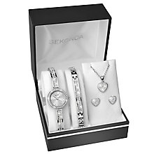 Sekonda Ladies' Silver Watch & Jewellery Christmas Gift Set - Product number 8151164