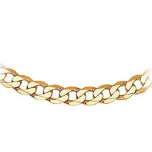 Mens 9ct Gold Solid Curb Chain 20`