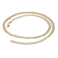 "9ct Yellow Gold 22"" Curb Chain Necklace - Product number 8151547"