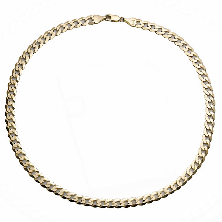 "9ct Gold 20"" Flat Curb Chain - Product number 8151563"