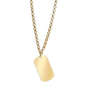 9ct Yellow Gold Tag Necklace