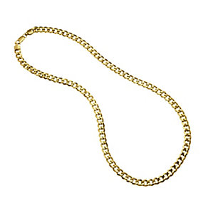 Men's 9ct Gold Curb Chain 20 inches - Product number 8151695