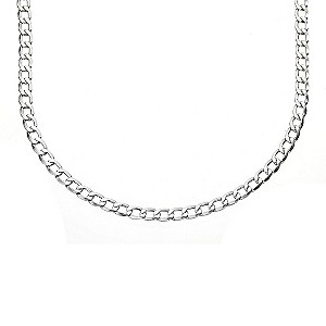 9ct White Gold Curb Chain 20