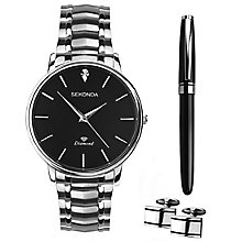 Sekonda Men's Stainless Steel Watch, Pen & Cufflink Set - Product number 8152357