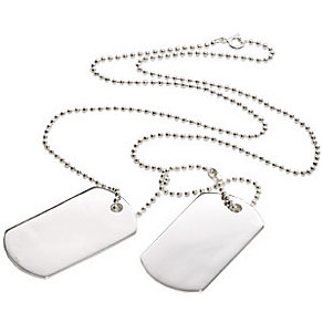 Men's Silver Double Dog Tag Pendant - Product number 8152659