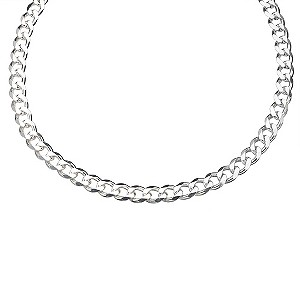 Sterling Silver Medium Curb Chain Necklace