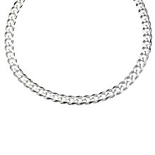 Sterling Silver Medium Curb Chain Necklace - Product number 8153000