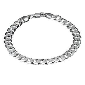 Sterling Silver Flat Curb Bracelet 8.25
