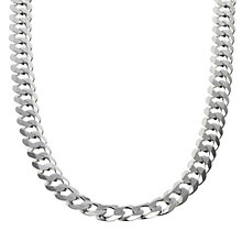 "Sterling Silver Flat Curb Necklace 20"" - Product number 8153213"