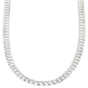 Sterling Silver Flat Curb Necklace 20