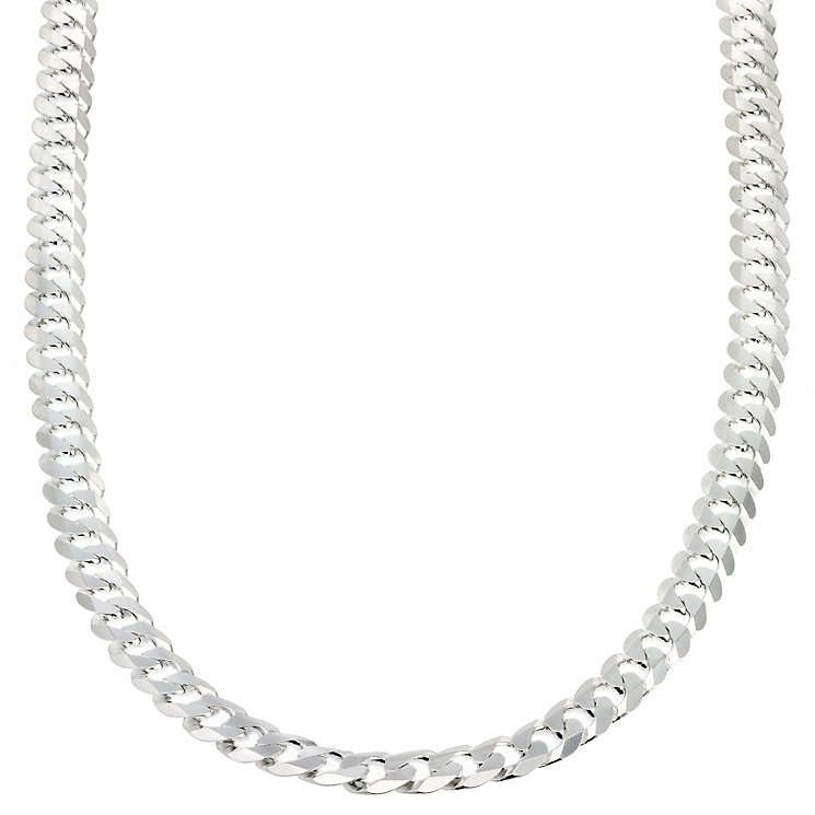 "Sterling Silver Flat Curb Chain 20"" - Product number 8153221"