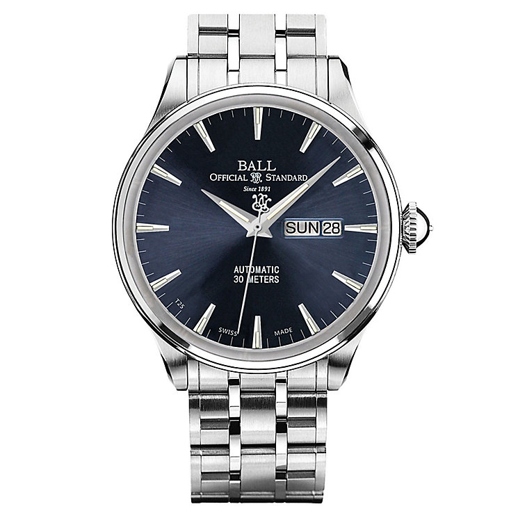 Ball Trainmaster Eternity Men's Stainless Steel Blue Watch - Product number 8154112