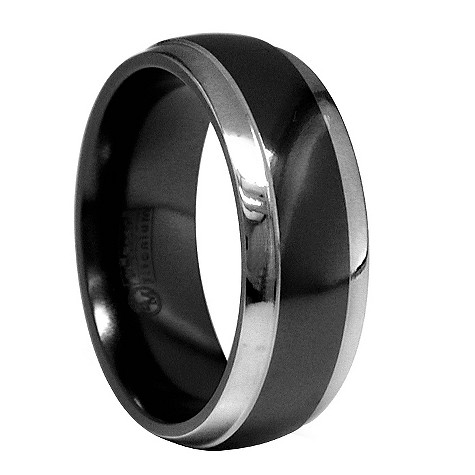 Edward Mirell black titanium ring 8mm