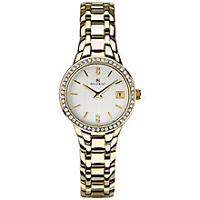 Accurist Ladies' Gold Plated Stainless Steel Bracelet Watch - Product number 8158401