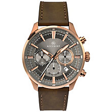 Accurist Men's Brown Leather Strap Watch - Product number 8158541