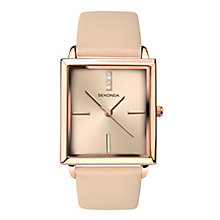 Sekonda Editions Ladies' Pink Leather Strap Watch - Product number 8158711
