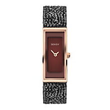 Seksy Ladies' Stone-Set Black Strap Watch - Product number 8158800