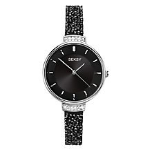 Seksy Ladies' Stone-Set Black Strap Watch - Product number 8158819