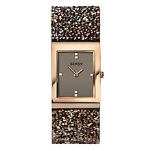 Seksy Ladies' Stone-Set Brown Strap Watch - Product number 8158835