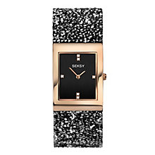 Seksy Ladies' Stone-Set Black Strap Watch - Product number 8158843