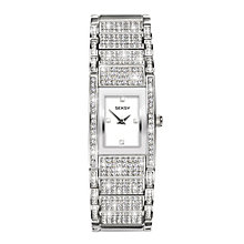 Seksy Ladies' Crystal-Set Stainless Steel Bracelet Watch - Product number 8158851