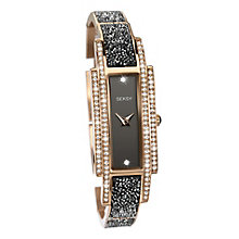 Seksy Ladies' Black & Rose Gold Bracelet Strap Watch - Product number 8158886