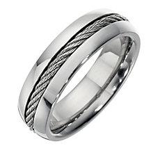Men's titanium grey rope ring - Product number 8160333