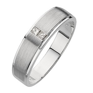 9ct white gold 2 diamond ring - Product number 8160732