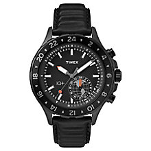 Timex IQ+ Black Leather Strap Watch - Product number 8163499