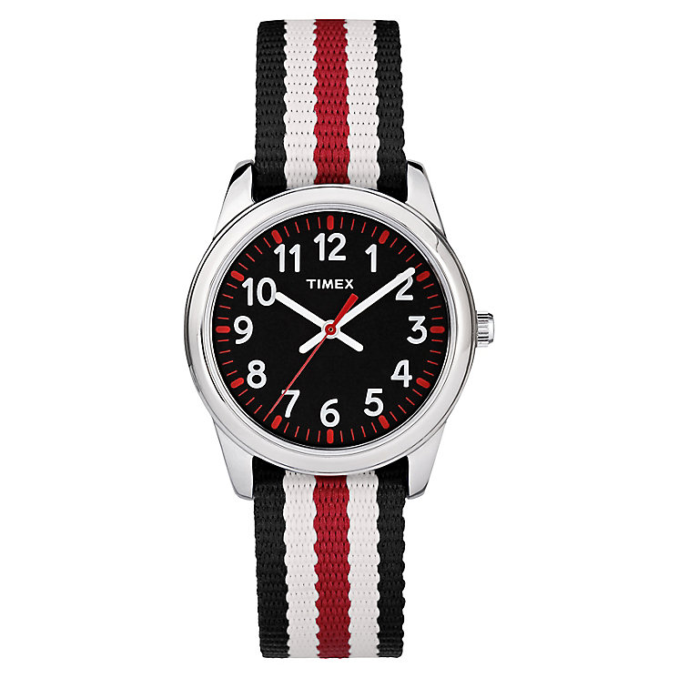 Timex Kid's Multi-Coloured Nylon Strap Watch - Product number 8163596