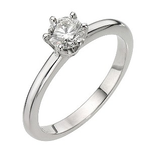 Platinum Half Carat Diamond 6 Claw Set Solitaire Ring